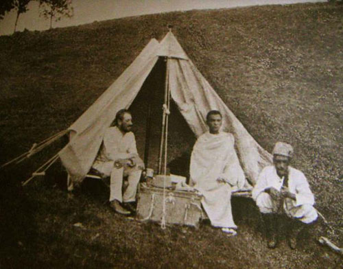 Gumilev near the tent