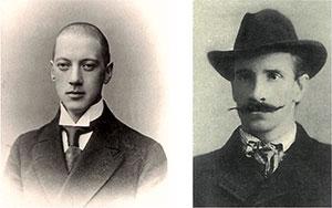 Николай Гумилёв и Александр Грин